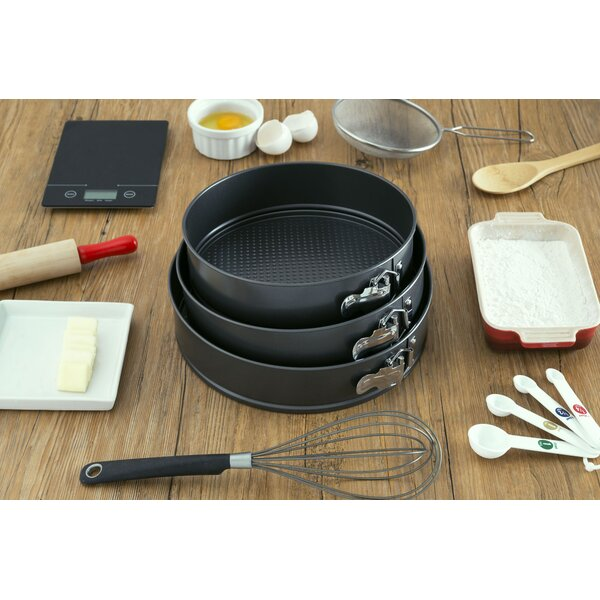 3 Piece Non-Stick Round Springform Pan by Home Basics