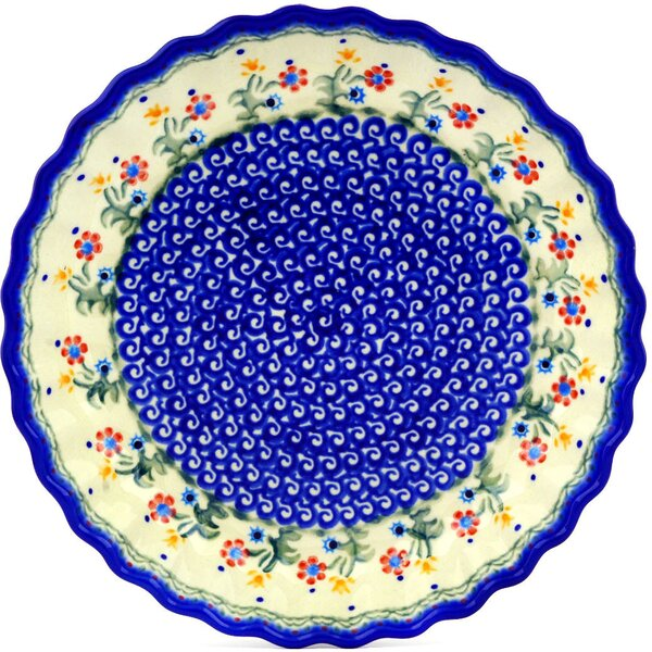 Spring Flowers Fluted Pie Dish by Polmedia