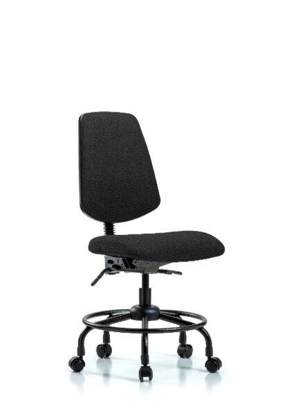 Lucien Round Tube Base Desk Height Ergonomic Office Chair by Symple Stuff