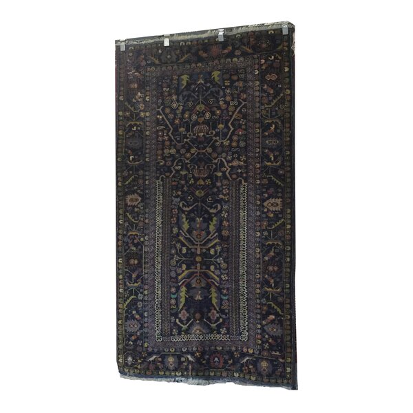 One-of-a-Kind Maez Afghanistan Tribal Hand-Knotted Wool Blue/Green Area Rug by Astoria Grand