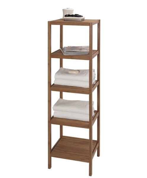 Bambo Tower 14.5 W x 53.5 H Bathroom Shelf by Crea