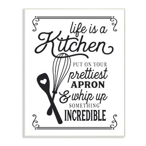 Life Is Like A Kitchen' Textual Art by Stupell Industries