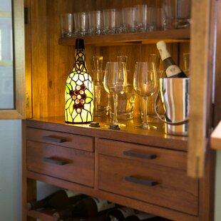 Wine bottle lamps wayfair wine bottle tiffany 125 lamp mozeypictures Gallery