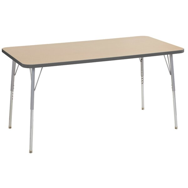 Maple Contour Thermo-Fused Adjustable 30 x 60 Rectangular Activity Table by ECR4kids