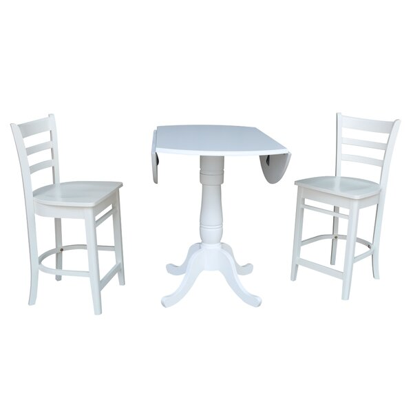 Ollie 3 Piece Pub Table Set by Canora Grey