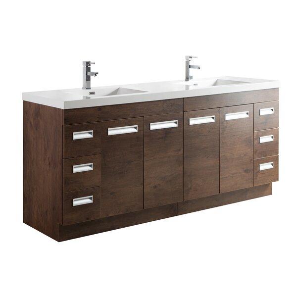 Pete 84 Double Bathroom Vanity Set