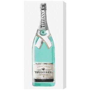 'Priceless Champagne Tall' Graphic Art on Wrapped Canvas by Willa Arlo Interiors