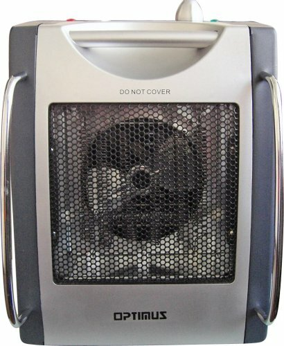 Portable 1,500 Watt Electric Convection Utility Heater With Thermostat By Optimus