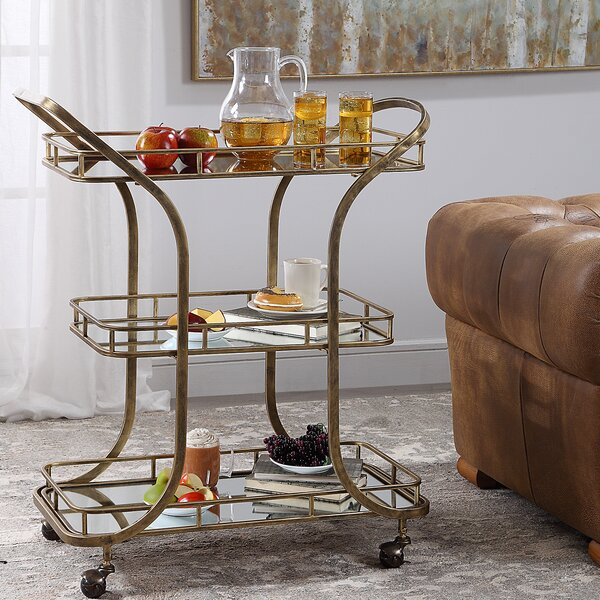 Hallie Serving Bar Cart by 17 Stories