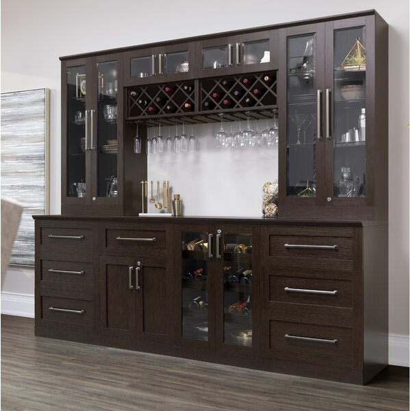 Buy Home Series Shaker Style Back Bar With Wine Storage By Newage
