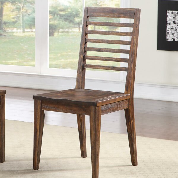 Worden Solid Wood Dining Chair (Set of 2) by Loon Peak