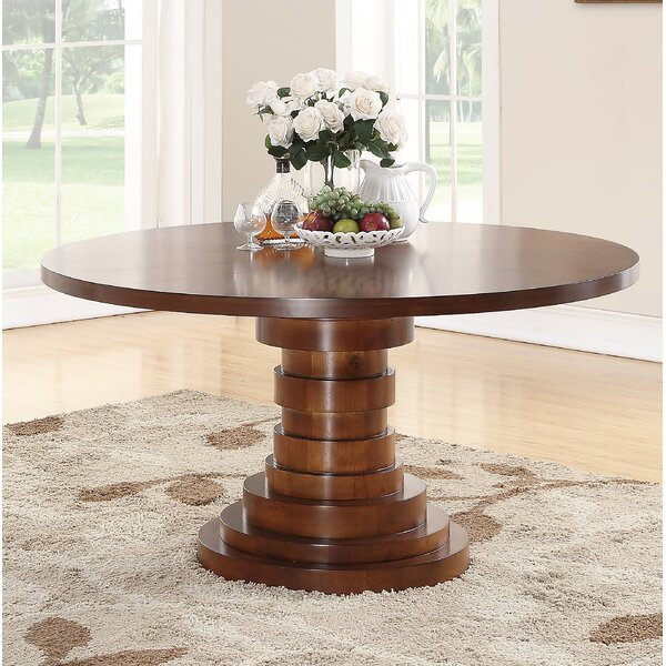 Dionte Solid Wood Dining Table by World Menagerie