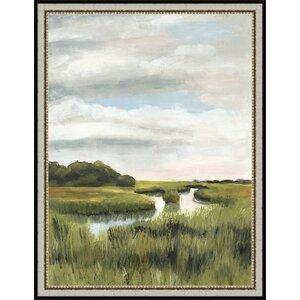 Marsh Landscapes I Framed Painting Print by Ashton Wall Décor LLC