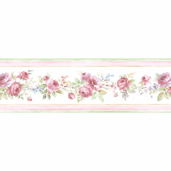 Floral Prints Ii 15 X 3 5 White Wedding Border Wallpaper By Norwall Wallcoverings Inc.
