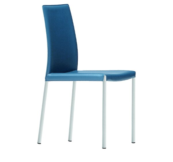 Nuvola Genuine Leather Upholstered Dining Chair By Midj