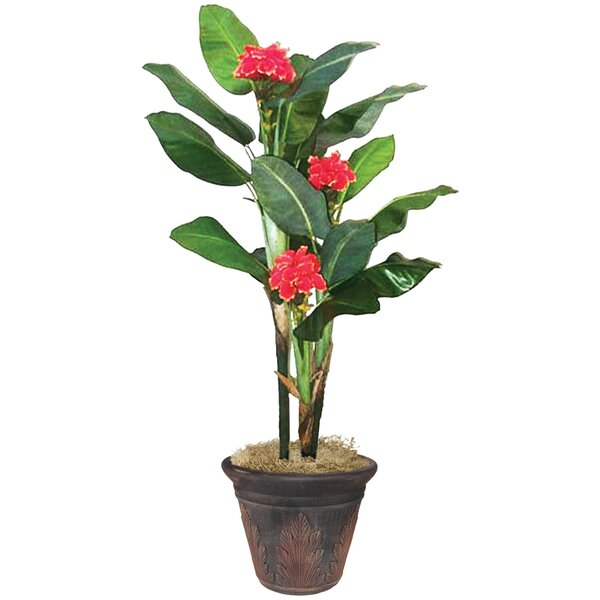 NuDell Artificial Flowering Banana Tree by Artistic Products