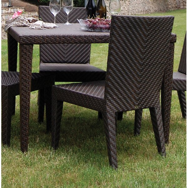Soho Patio Woven Square Dining Table by Hospitality Rattan