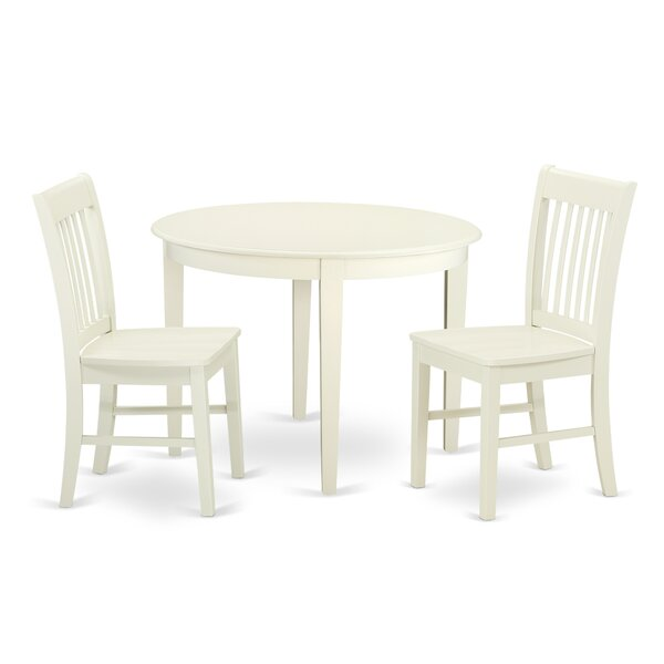 Hillhouse 3 Piece Solid Wood Dining Set by Red Barrel Studio