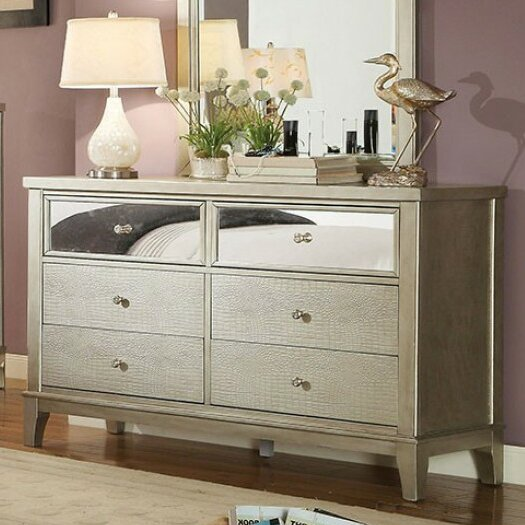 Amiyah 6 Drawer Double Dresser by Everly Quinn