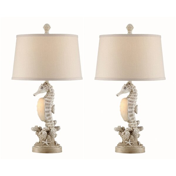 Indie Seahorse 27 Table Lamp (Set of 2) by Highland Dunes