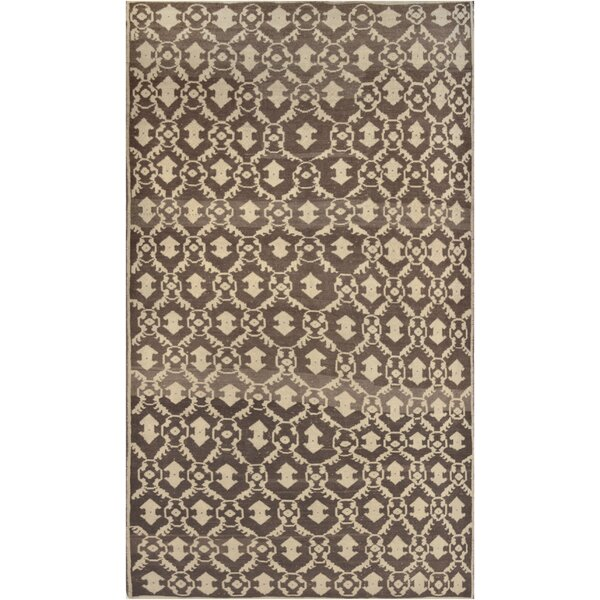 One-of-a-Kind Turkish Quality Hand-Knotted Wool Brown Indoor Area Rug by Mansour