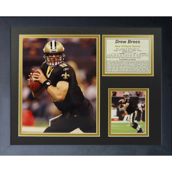 Drew Brees - Home Framed Memorabilia by Legends Never Die