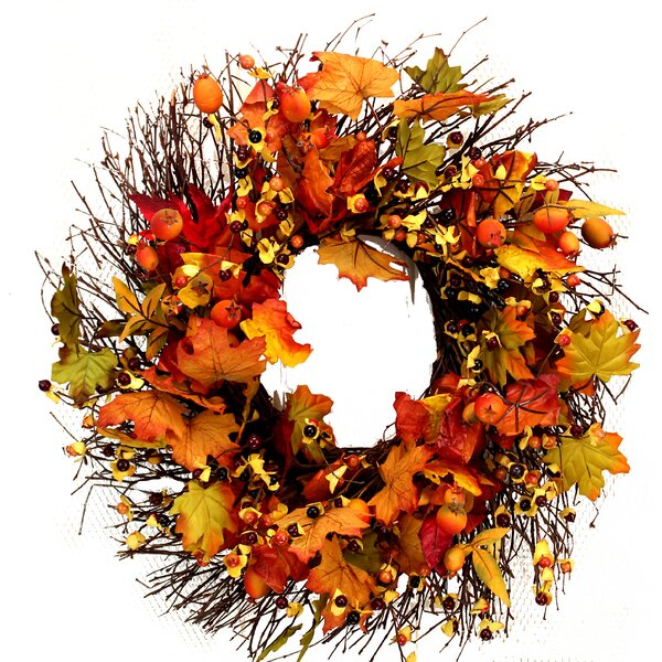 Fall 19 Mixed Berries Twig Wreath by The Holiday Aisle