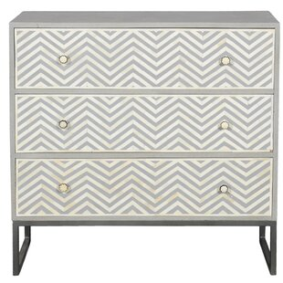 Baney 3 Drawer Accent Chest by Bungalow Rose
