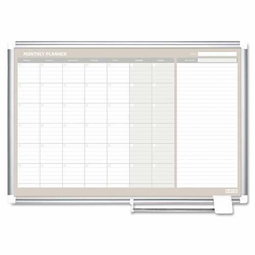 Monthly Planner Wall Mounted Magnetic Whiteboard by Mastervision