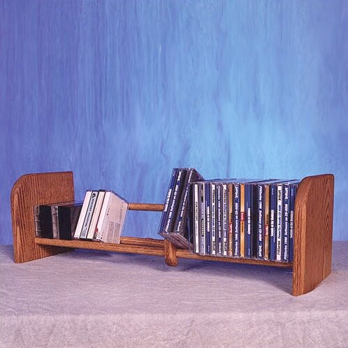 100 Series 55 CD Multimedia Tabletop Storage Rack by Wood Shed