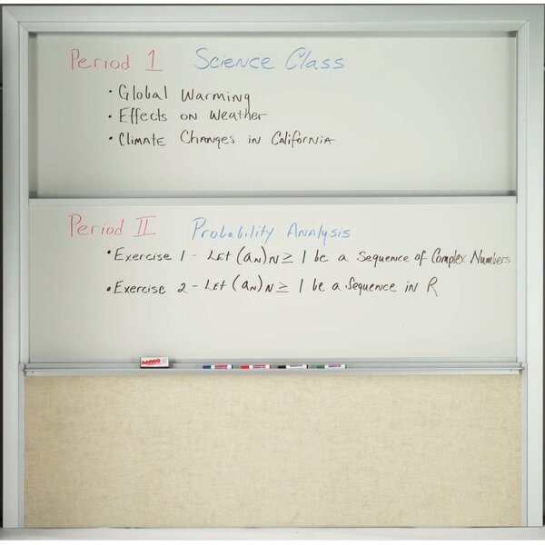 Combination Wall Mounted Whiteboard by AARCO