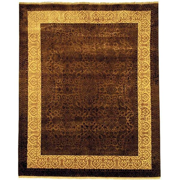 Antonie Hand-Knotted Chocolate Area Rug by Bloomsbury Market