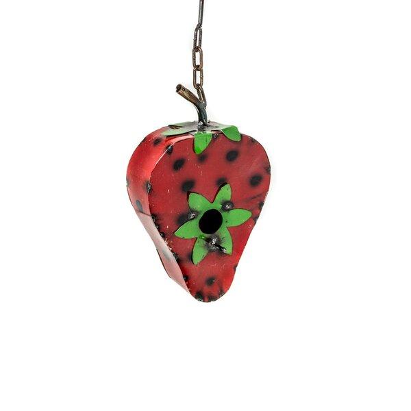 Strawberry 18 in x 8 in x 4 in Birdhouse by Rustic Arrow