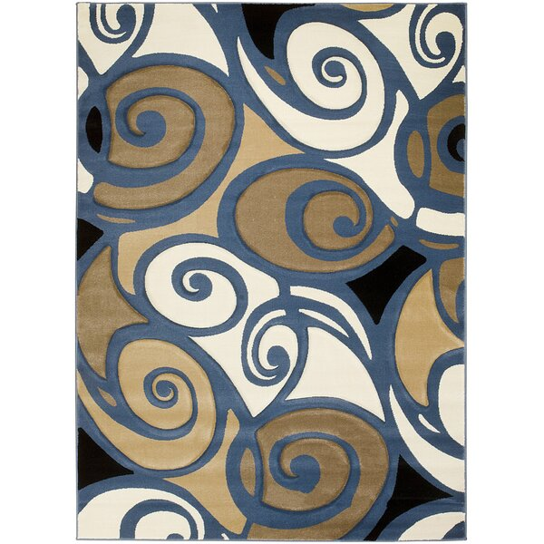 Alford Hand-Carved Blue/Beige/Brown Area Rug by Latitude Run