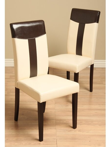Tiffany Upholstered Parsons Chair In Light Cappucino (Set Of 4) By Warehouse Of Tiffany