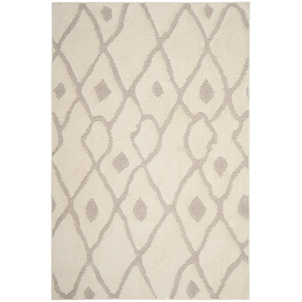 Helms Cream/Brown Area Rug by Wrought Studio