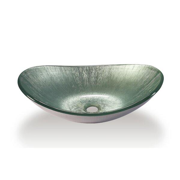 Glass Oval Vessel Bathroom Sink by Legion Furniture