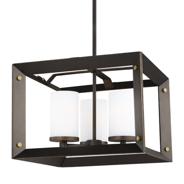 Neston 3 - Light Shaded Square / Rectangle Chandelier By Wrought Studio