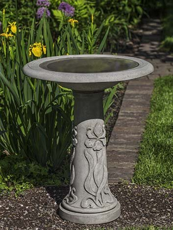 Iris Birdbath by Campania International