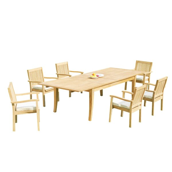 Masson 7 Piece Teak Dining Set