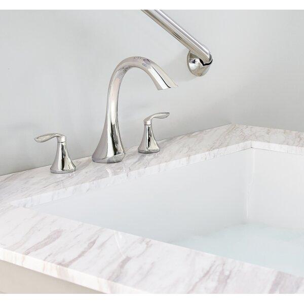 Eva Double Handle Deck Mounted Roman Tub Faucet Trim By Moen