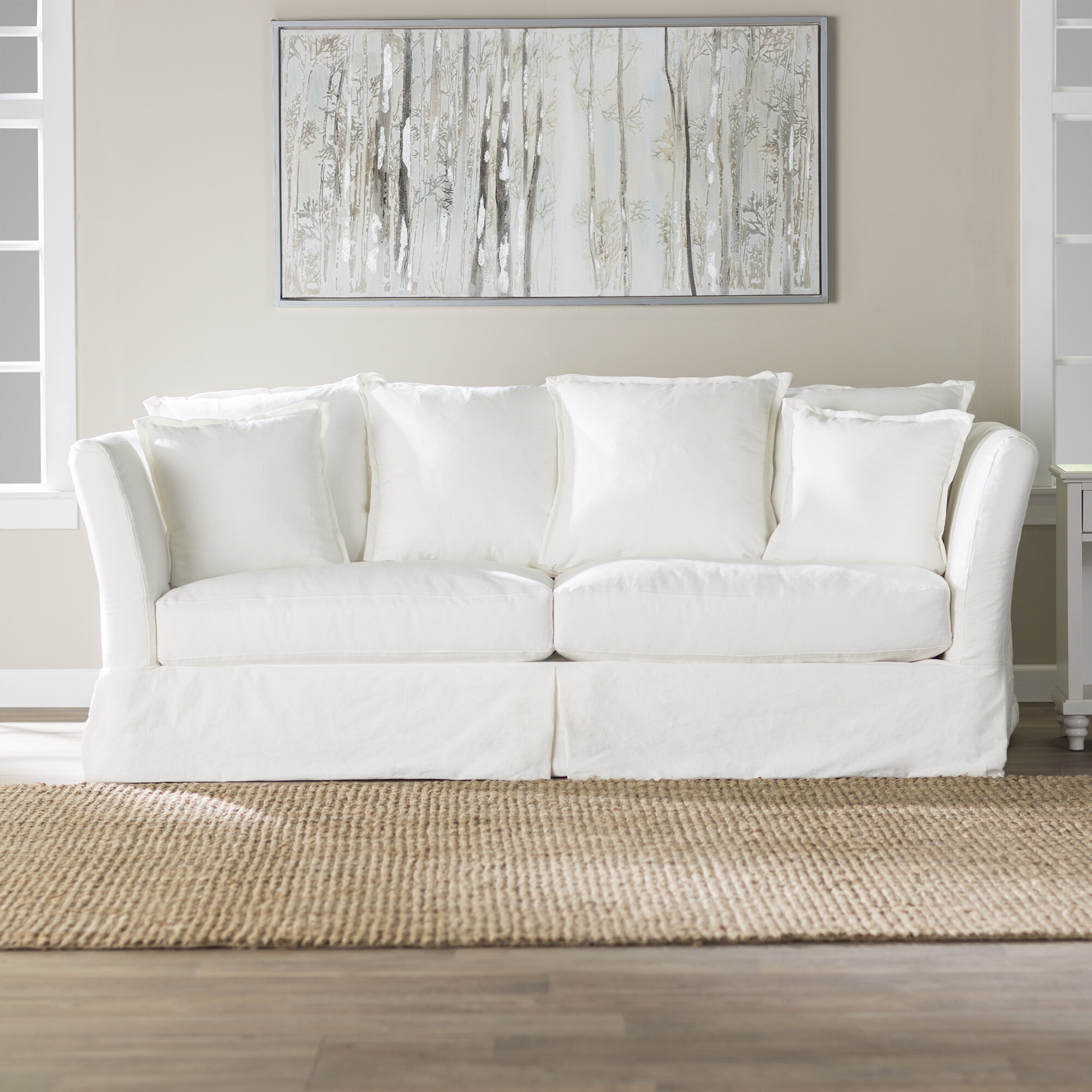 farmhouse slipcover shipping elizabeth product garden eco free overstock home today friendly sofa slipcovered