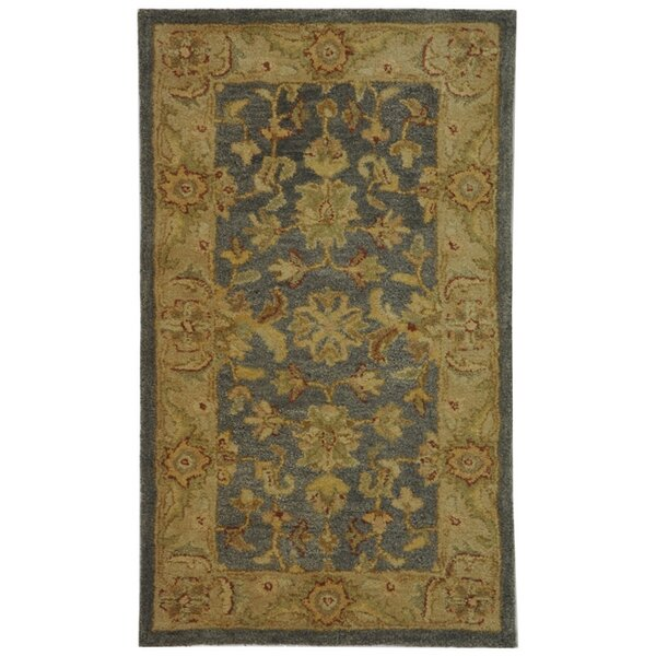 Dunbar Blue/Beige Area Rug by Charlton Home