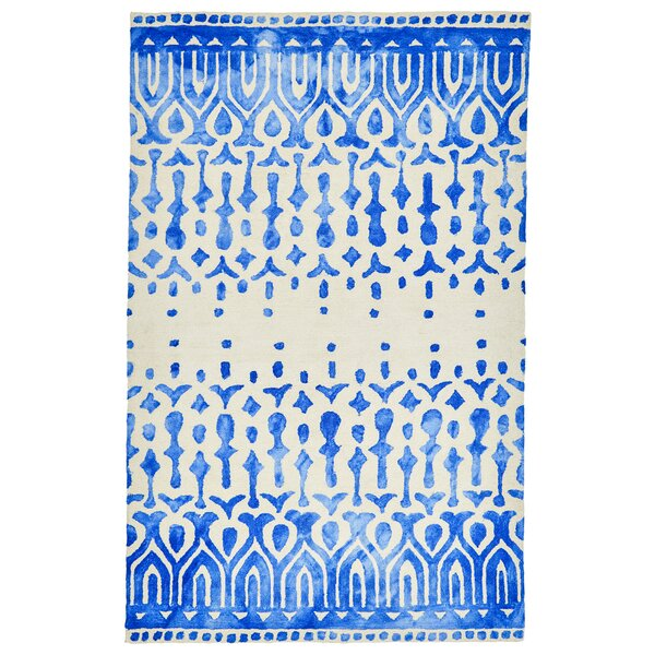 Haings Hand-Tufted Blue/Beige Indoor/Outdoor Area Rug by World Menagerie