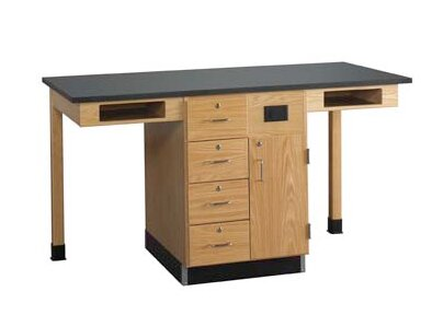 Two Station Service Center Workstation by Diversified Woodcrafts