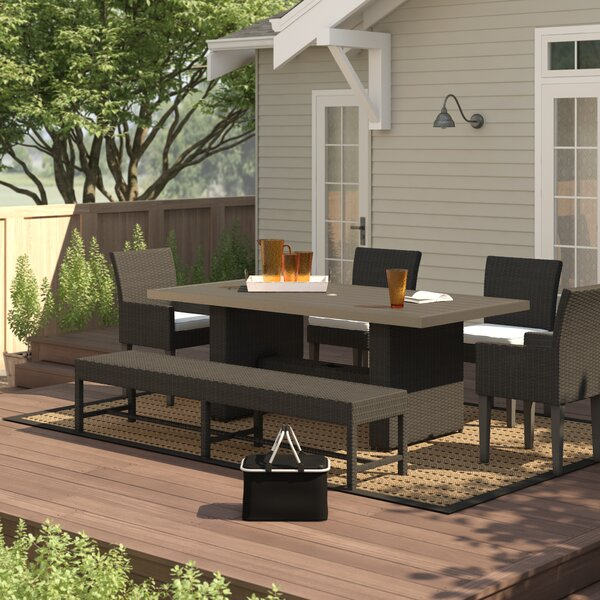 Fernando Outdoor 6 Piece Dining Set with Cushions by Sol 72 Outdoor