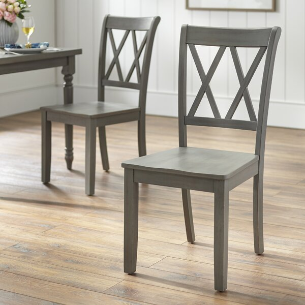 Kristopher Solid Wood Dining Chair (Set of 2) by Ophelia & Co.