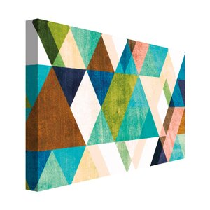 'Warm Dimensions' Graphic Art on Wrapped Canvas by Mercury Row