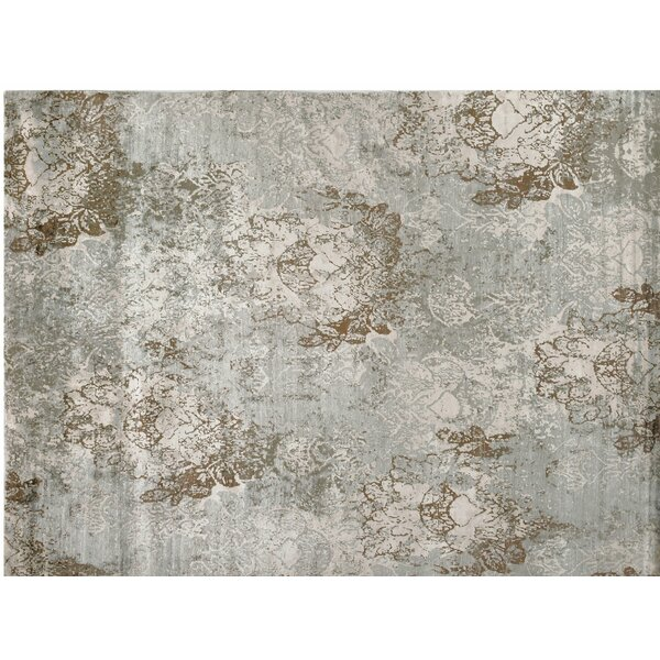 One-of-a-Kind Hand-Knotted Gray 9' x 12' Viscose Area Rug