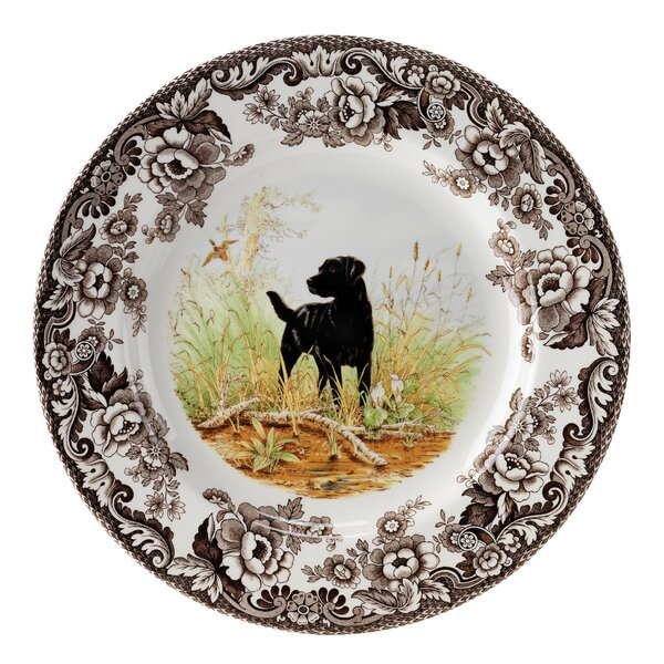 Woodland 10.5 Labrador Retriever Dinner Plate by Spode